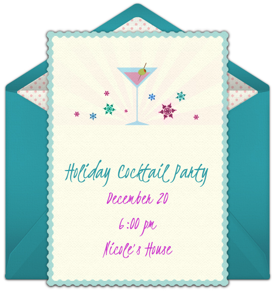 free holiday cocktail online invitation