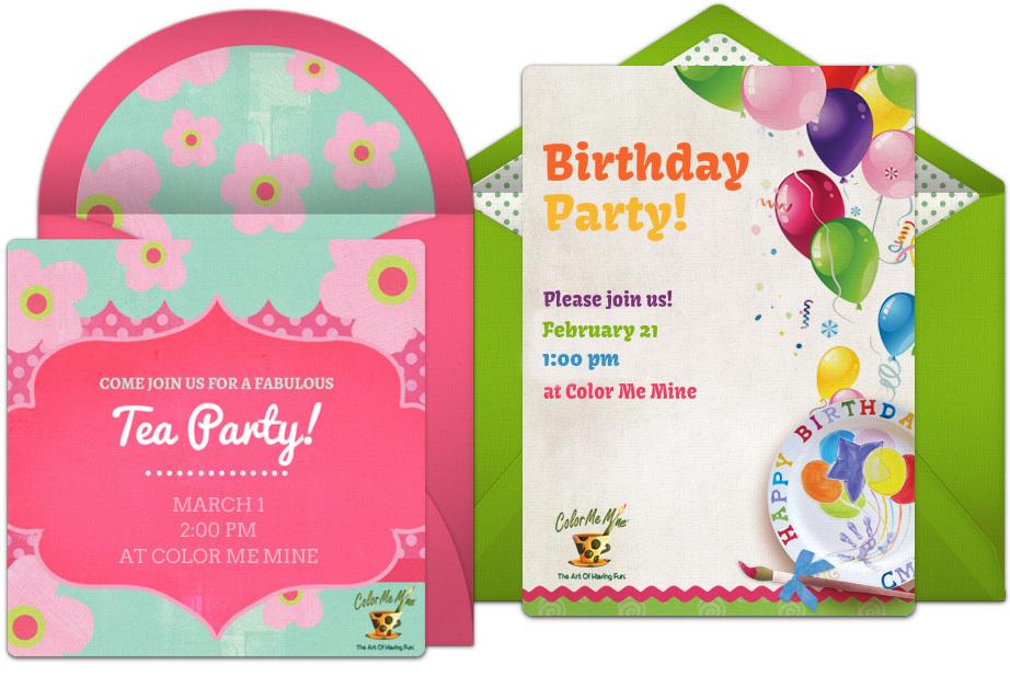 Ceramic Painting Party Invitations - Defendbigbird.com