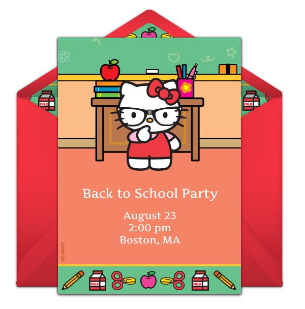 Hello Kitty online invitation