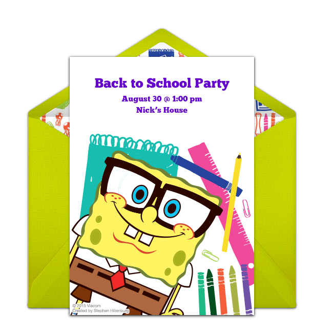 SpongeBob SquarPants online invitation