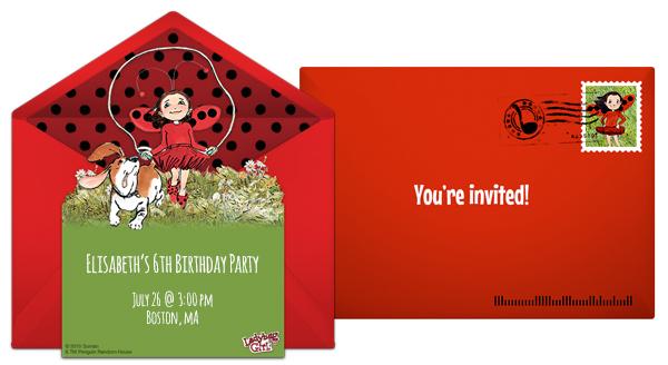 Free Ladybug Girl Online Invitations