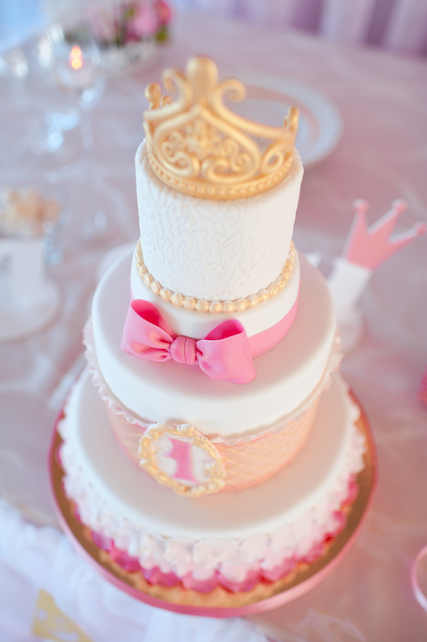 Princess Themed 1st Birthday Cake