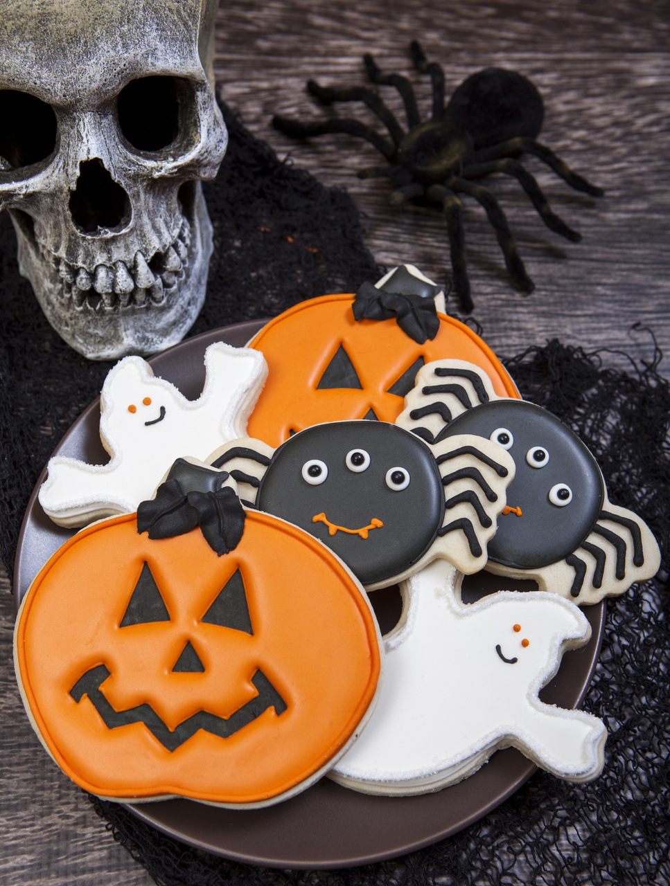 spooky cookie halloween cookie decorations - Halloween Cookies Decorating Ideas