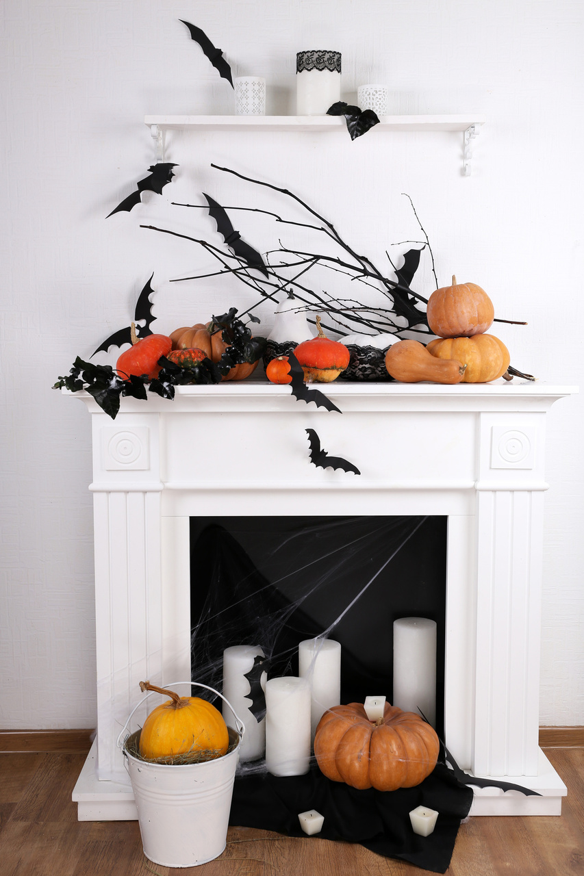 cats bats and crows black is the new black for halloween - Halloween Crow Decorations