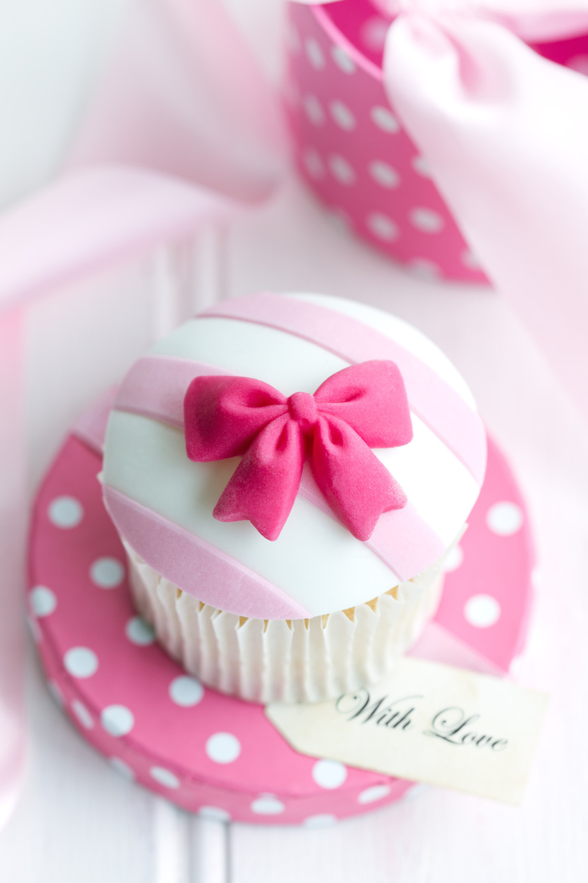 Minnie Mouse 1st Birthday Party Cupcake