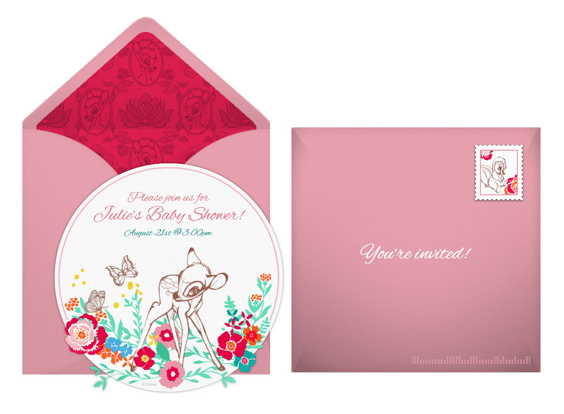 Plan a sweet bambi baby shower free bambi online invitation filmwisefo