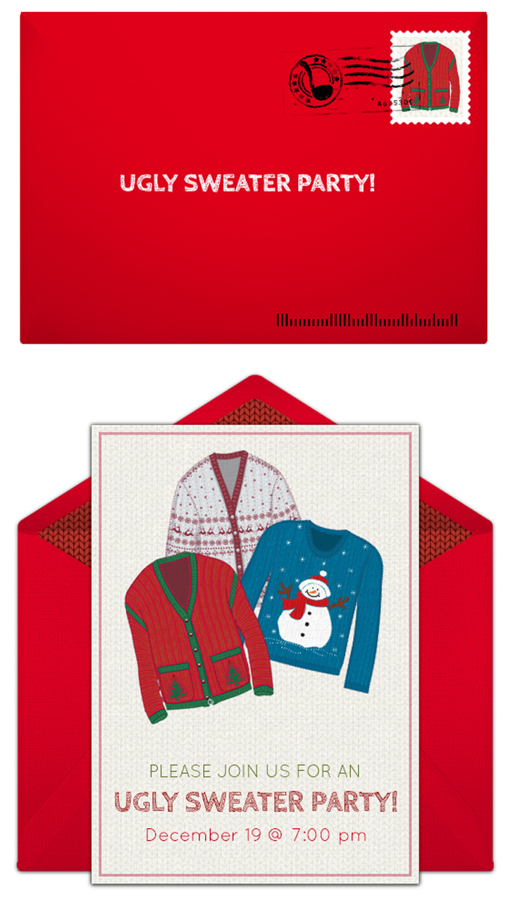Ugly Christmas Sweater Party Invite.Ugly Christmas Sweater Party Ideas