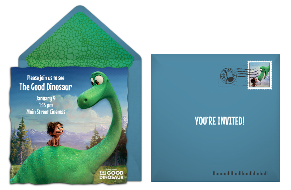 Free Good Dinosaur Online Invitation