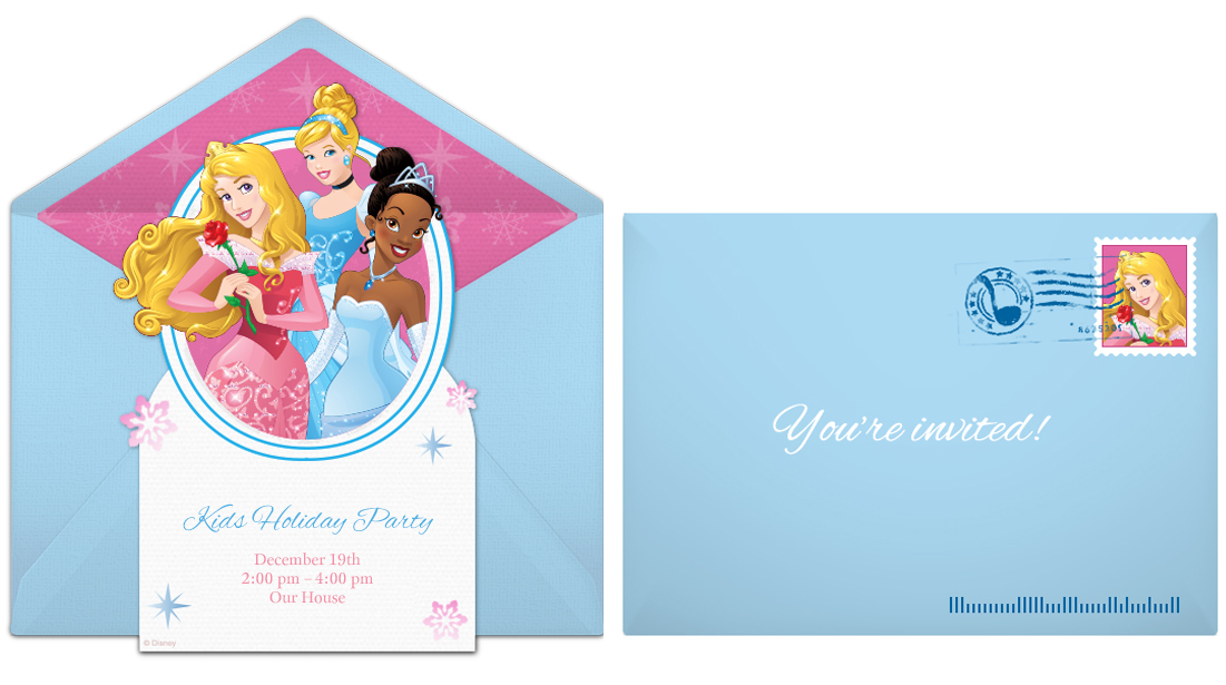 plan the perfect disney princess birthday party, Birthday invitations