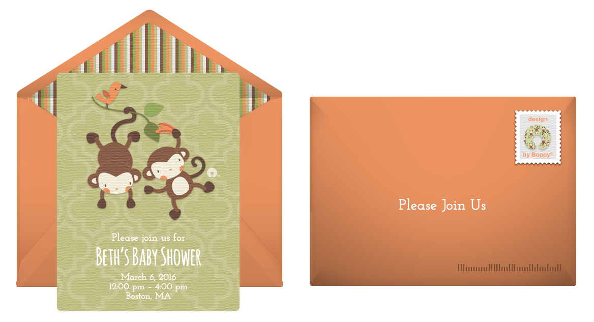 6 whimsical baby shower invitations, Baby shower invitations
