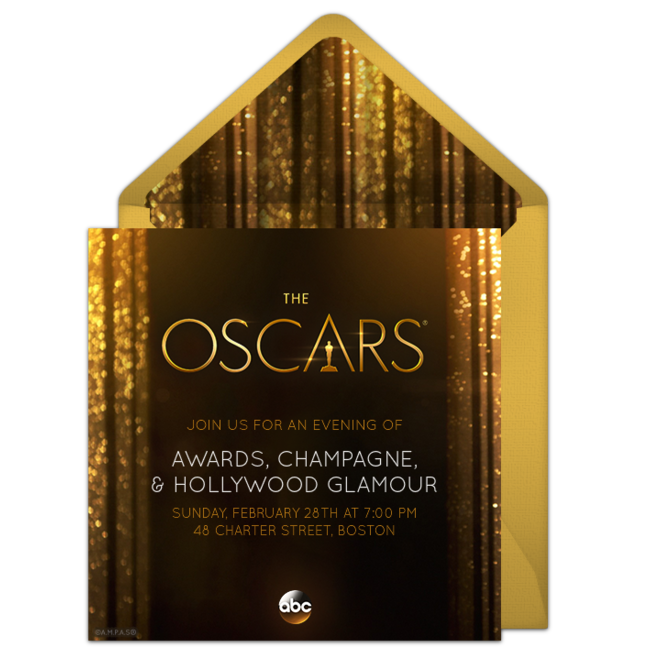 Free Oscars Invitations For The Academy Awards on oscar party invite
