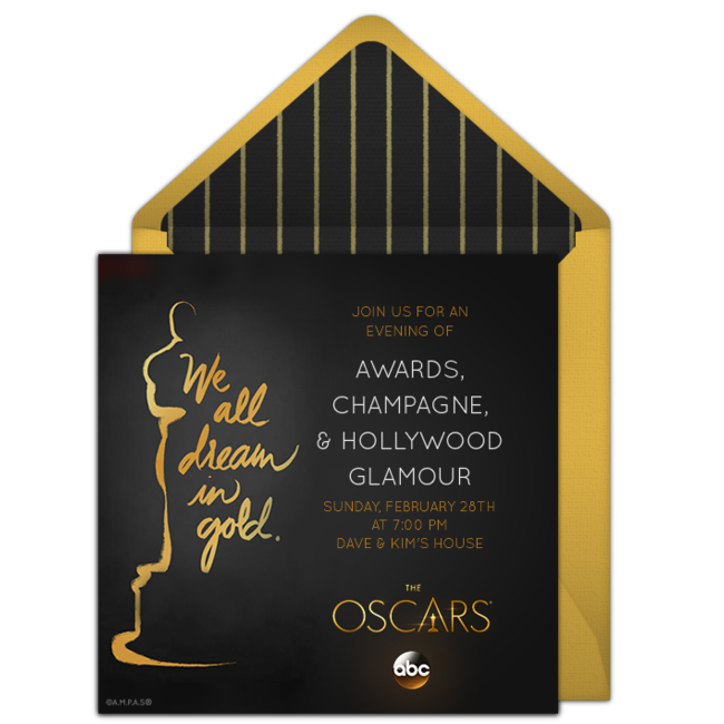 Free Oscars Invitations For The Academy Awards on oscar party flowers