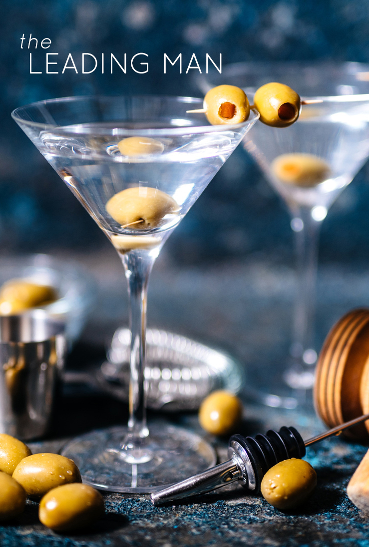 Top 5 Oscars-Inspired Cocktails: The Leading Man (Dirty Martini)