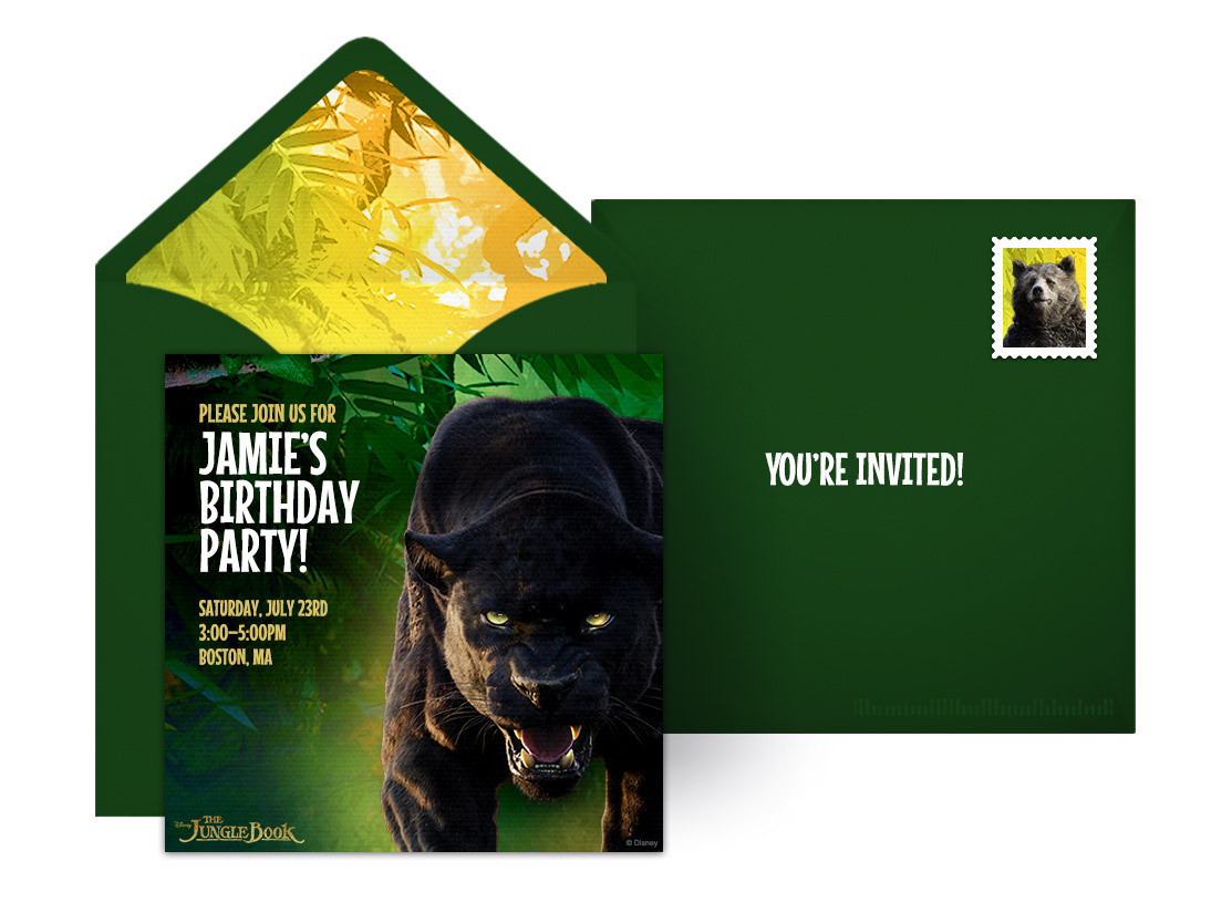 plan a wild jungle book birthday party