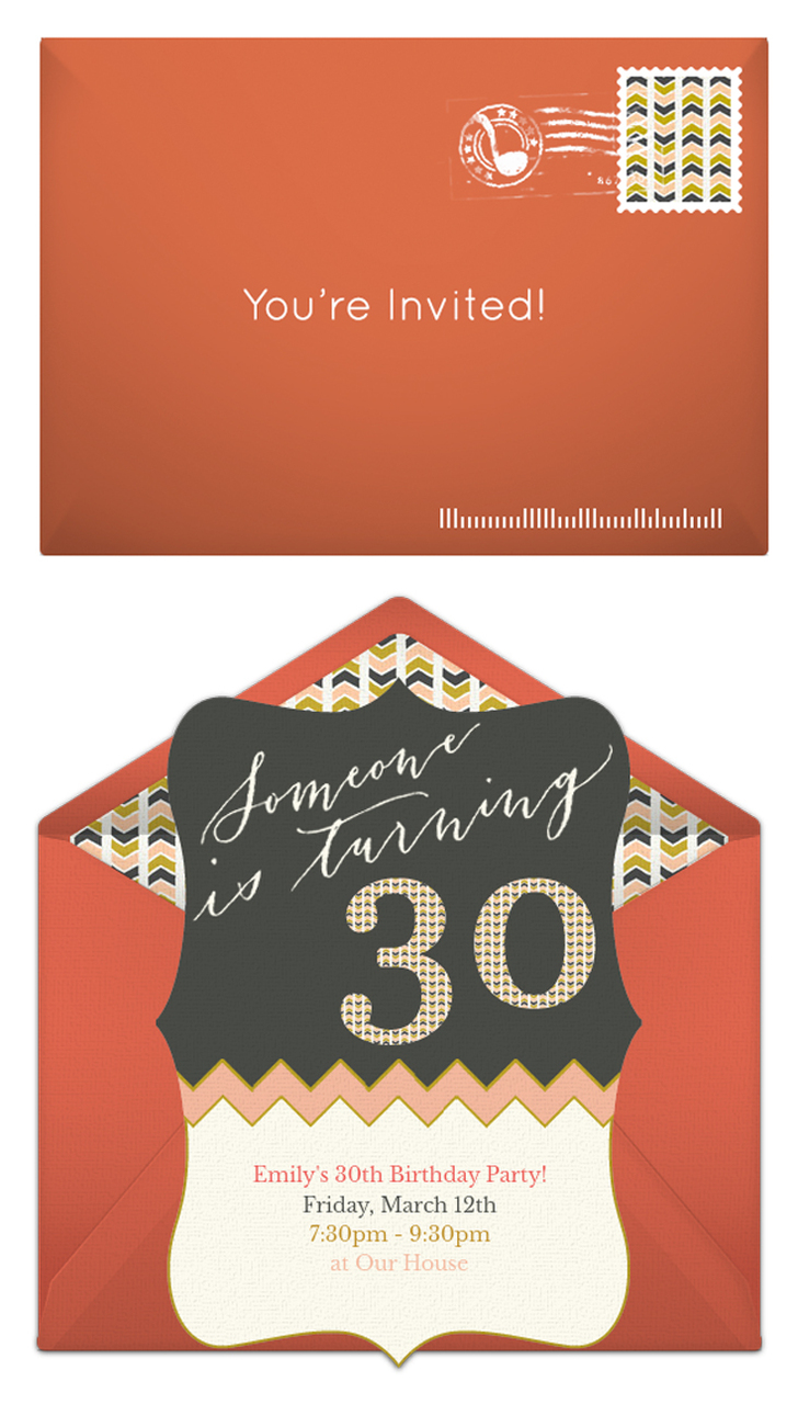 Free 30th Birthday Invitations