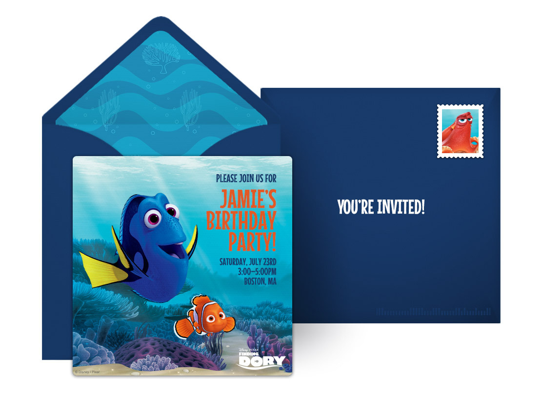 Finding Dory Online Invitation