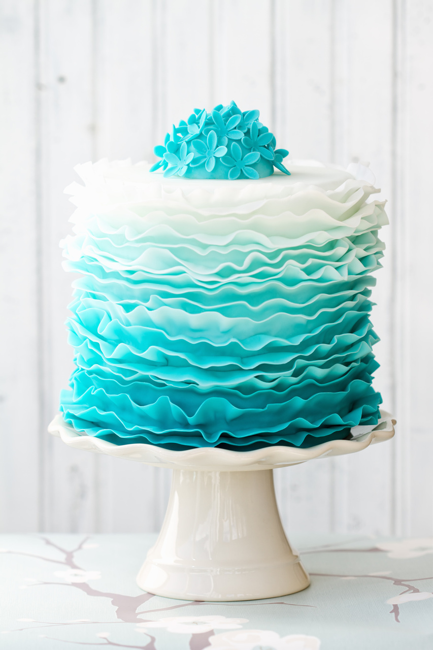 Blue Ombre Layer Cake