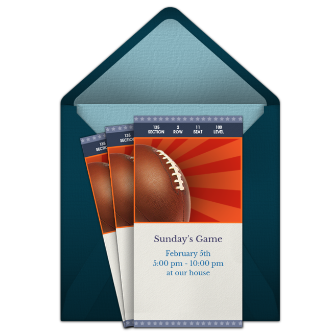 Free Super Bowl Party Invitations