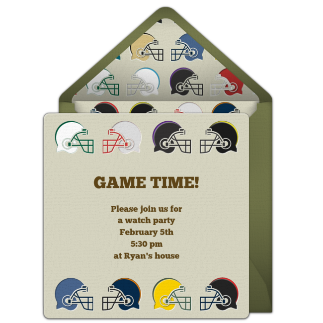 Free Super Bowl Party Invitations – Super Bowl Party Invitations