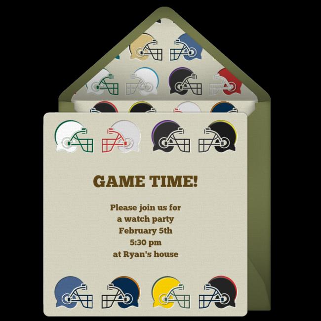 Free Super Bowl Party Invitations