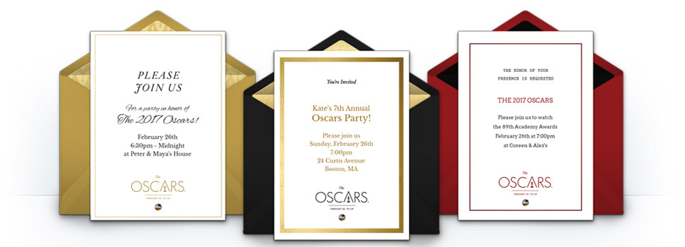 Free Oscars Invitations For The 2017 Academy Awards
