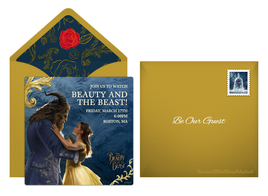 Free Beauty and the Beast Online Invitation