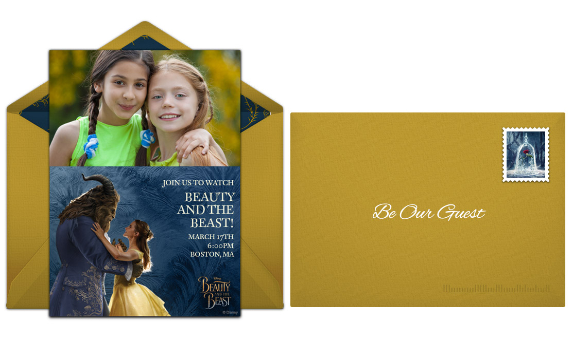 Beauty and the Beast Online Invitaiton