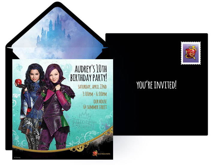 Free Descendants Online Invitations