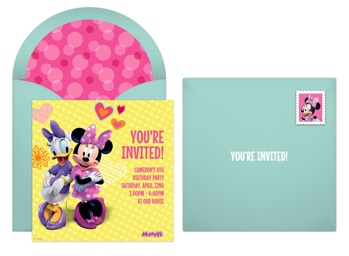 Free Minnie and Daisy Online Invitations