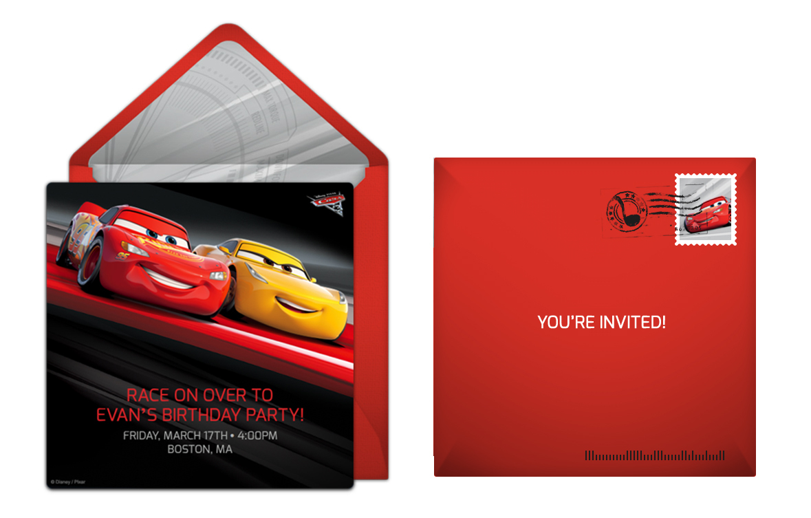 Plan A High Speed Cars 3 Birthday Party