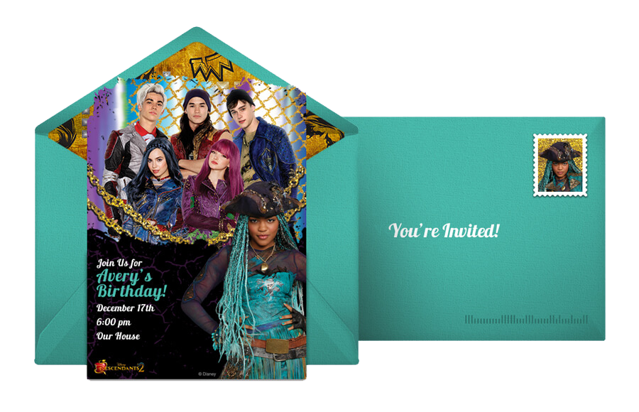 Descendants 2 Online Invitation