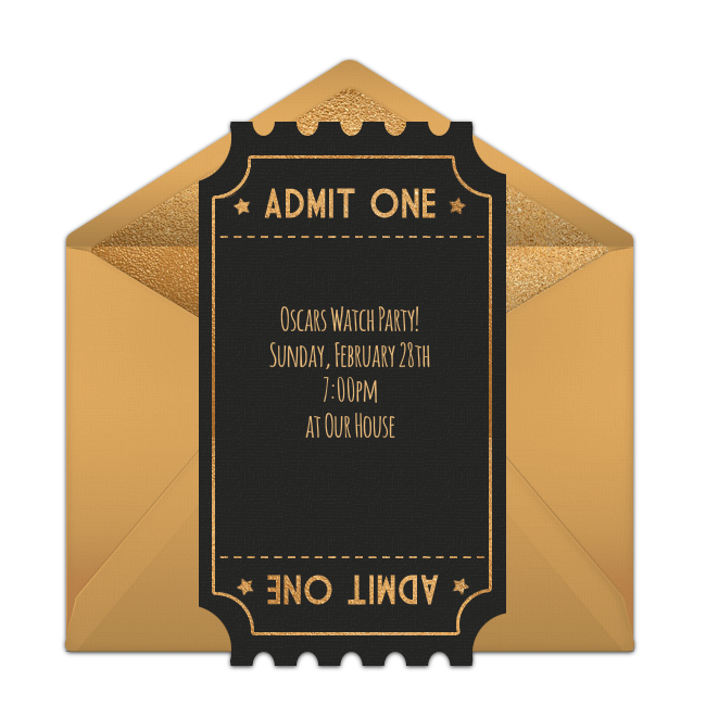 Free Oscars Invitations For The 2019 Academy Awards