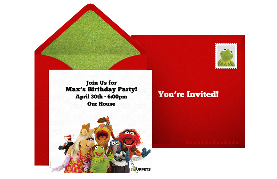 free muppets most wanted online invitation