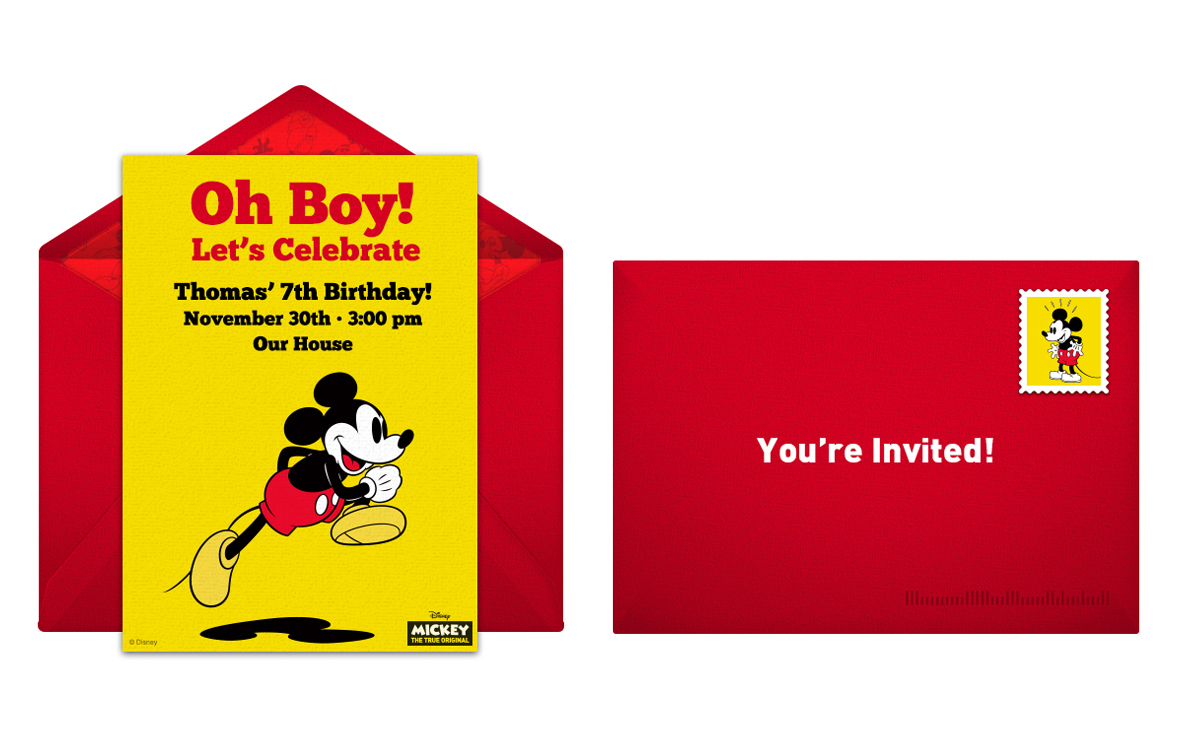 Plan a Classic Mickey Mouse Birthday Party
