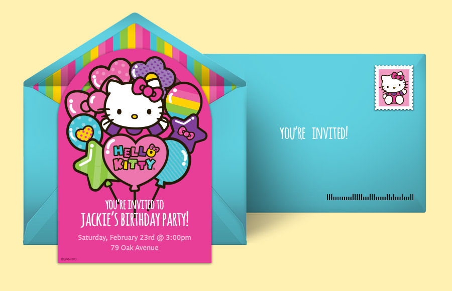 Free Hello Kitty Invitations Hello Kitty Online Invitations – Hello Kitty Party Invitation