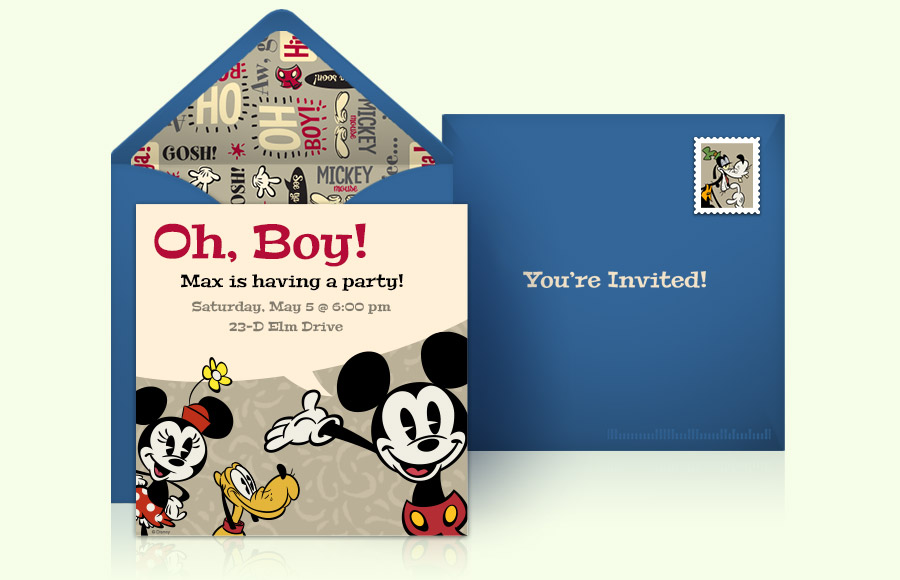 Plan a Mickey Mouse Party!