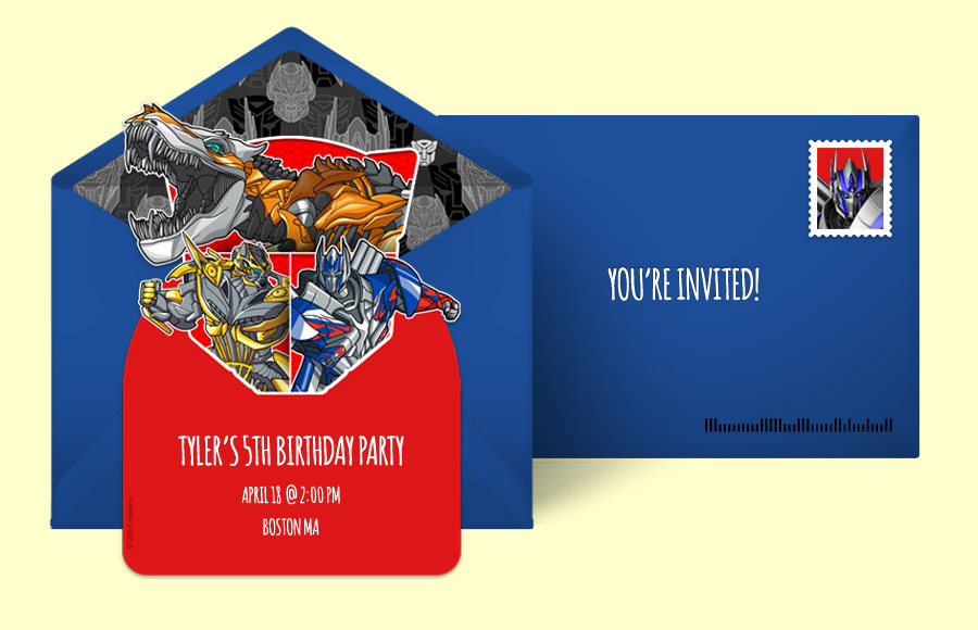 free transformers invitations, transformers online invitations, Birthday invitations