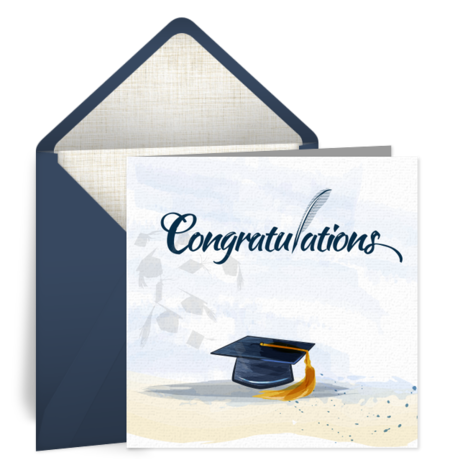 Buy e greeting ecards gifts - Graduation eCard with $25 Gift Card