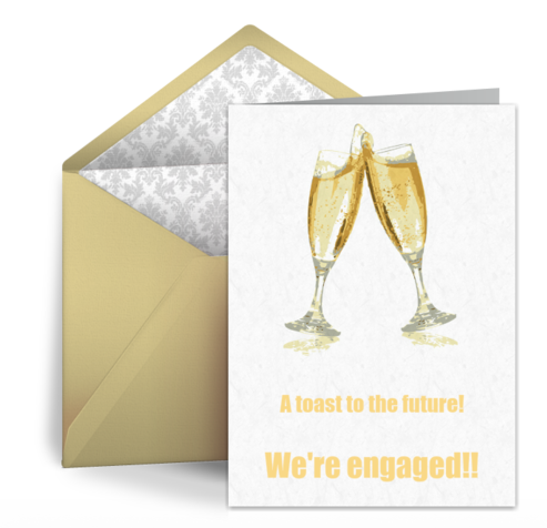 Formal Engagement Announcement Wording Traditionally an engagement is