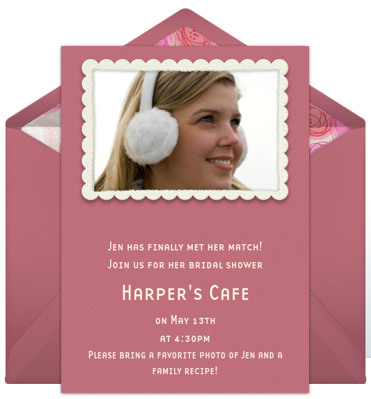 ... bridal shower invite wording to fit any bridal shower invitation