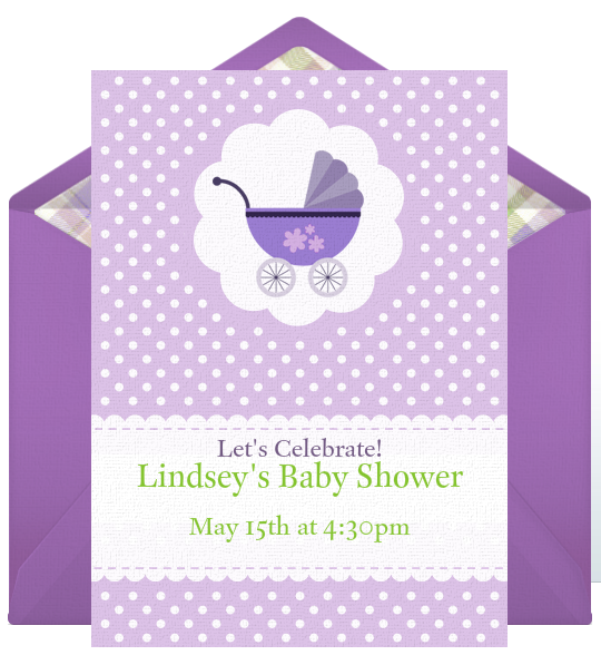 if the expected baby is a girl design the free baby shower invitation