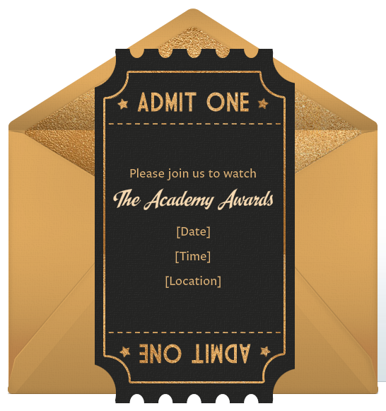 Oscar Party Invitations is an amazing ideas you had to choose for invitation design
