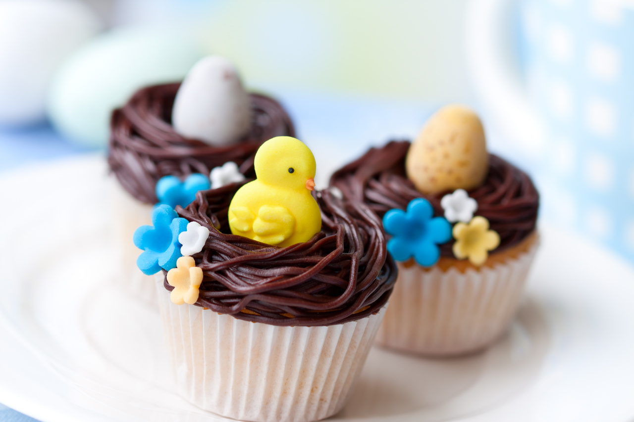 Easter nest cupcakes, Easter recipes for kids