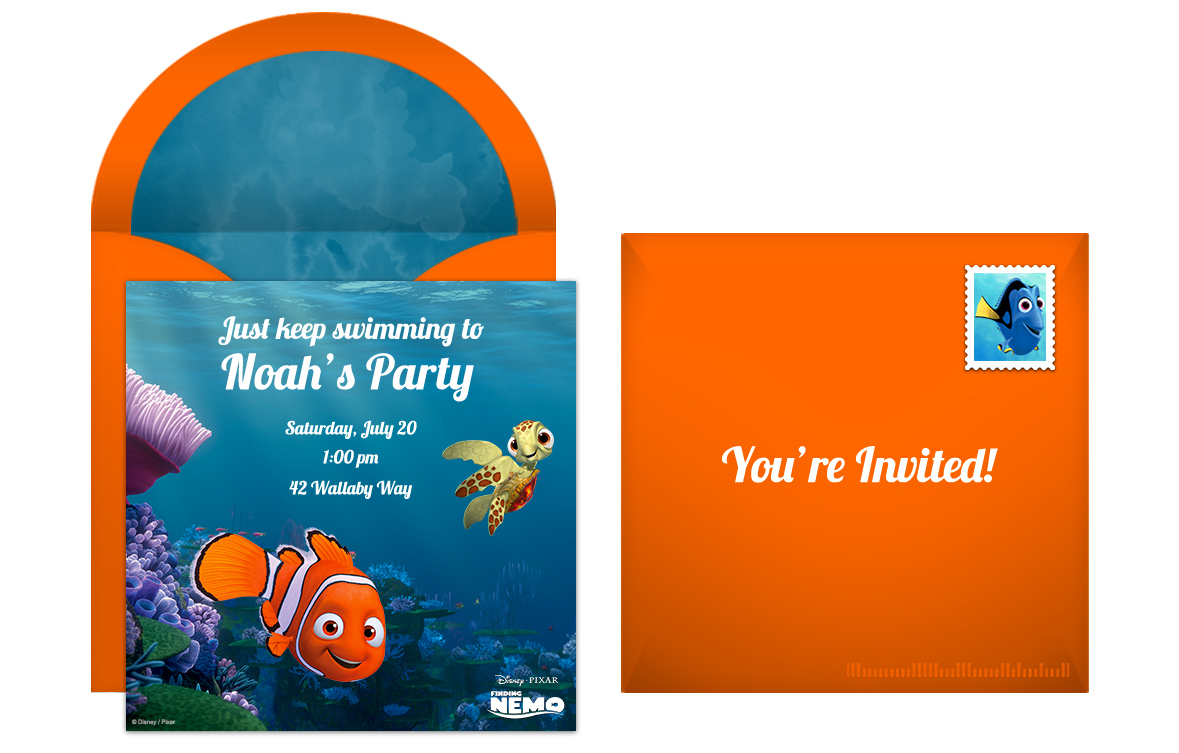 Plan a Totally Righteous Finding Nemo Birthday Party