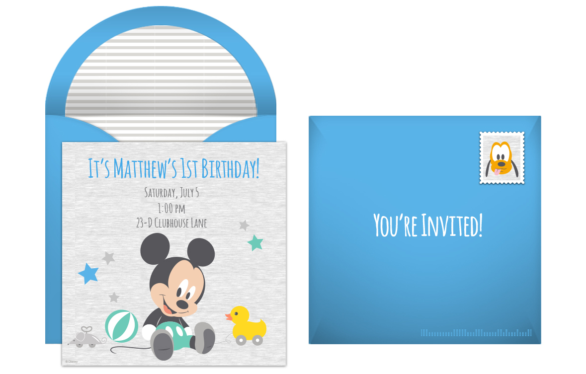 Baby Mickey Invitations for luxury invitations template