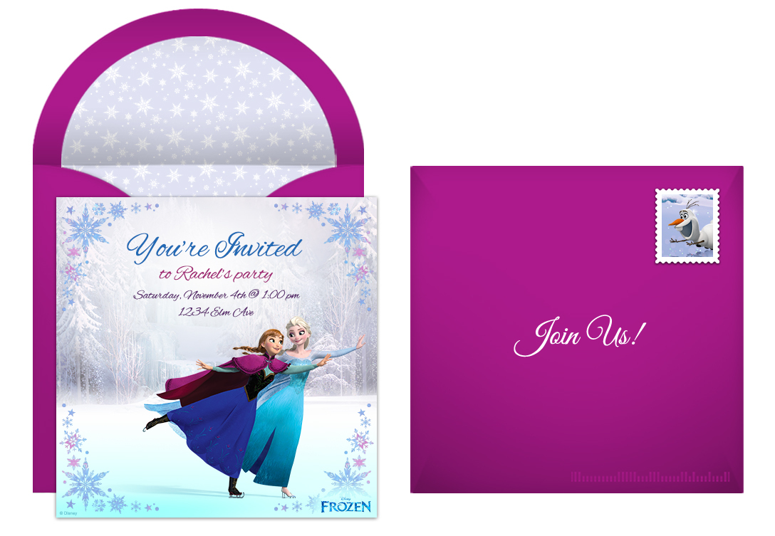 online free frozen invitations