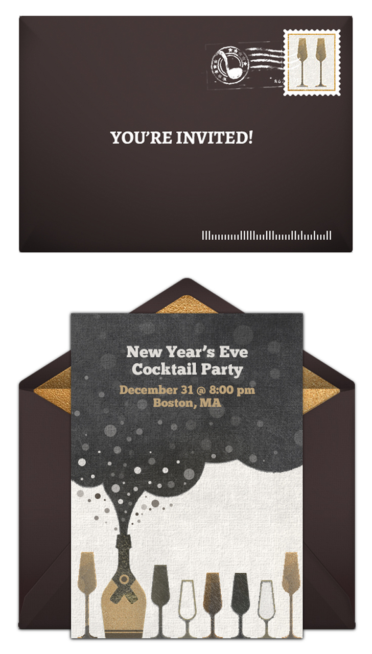 Free New Year's Eve party invitations