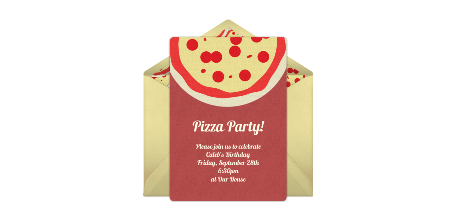 Free Pizza Party Online Invitation - Punchbowl.com
