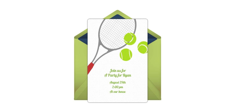 Free Tennis Online Invitation Punchbowl