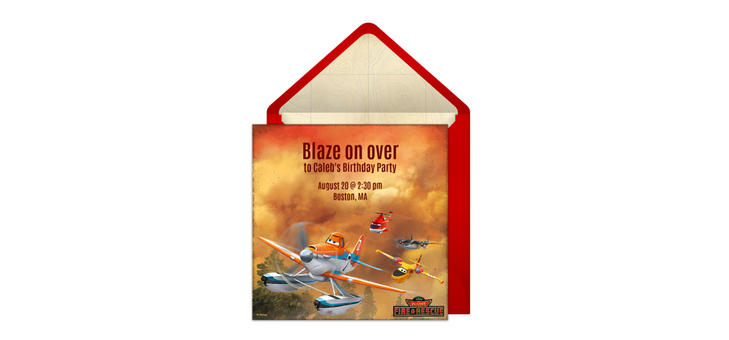 Free Planes: Fire & Rescue Online Invitation - Punchbowl.com